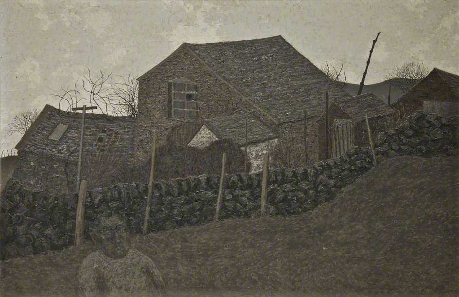 Cottage and Wall