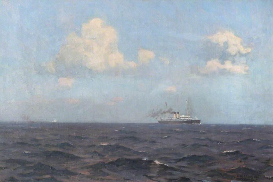 A Cross-Channel Packet Steamship