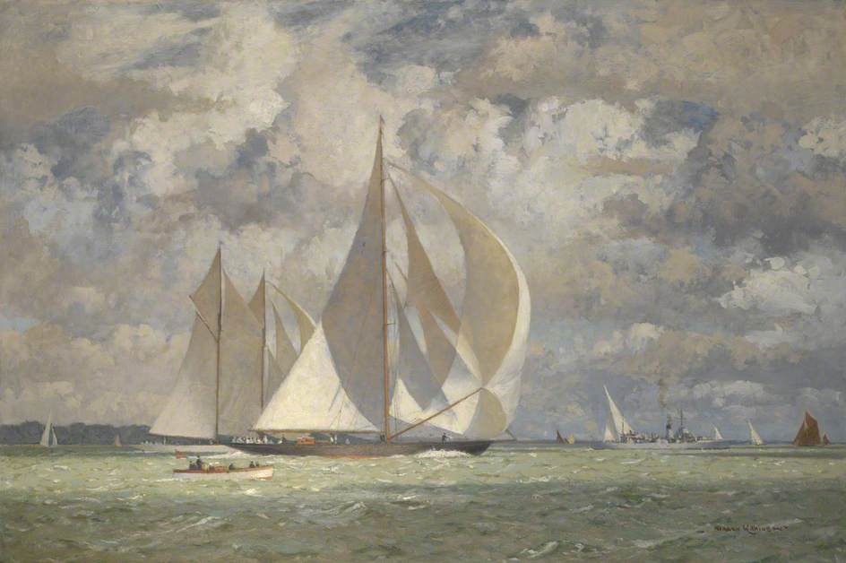 HMY 'Britannia' Racing the Yacht 'Westward' in the Solent, 1935