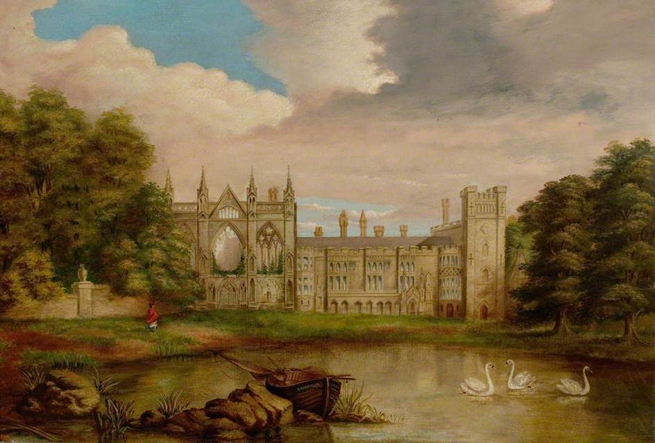 Newstead Abbey, Nottinghamshire, from Upper Lake