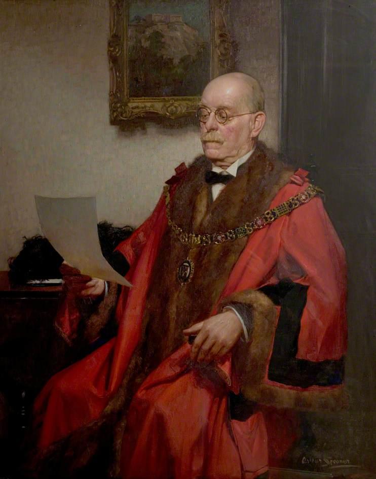 Posthumous Portrait of Alderman E. L. Manning