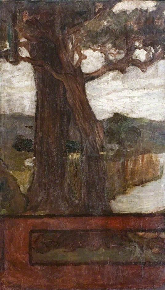 Tree, Idylls of the King (left panel)
