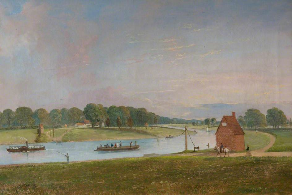 Wilford Ferry, from the North Bank, 1872