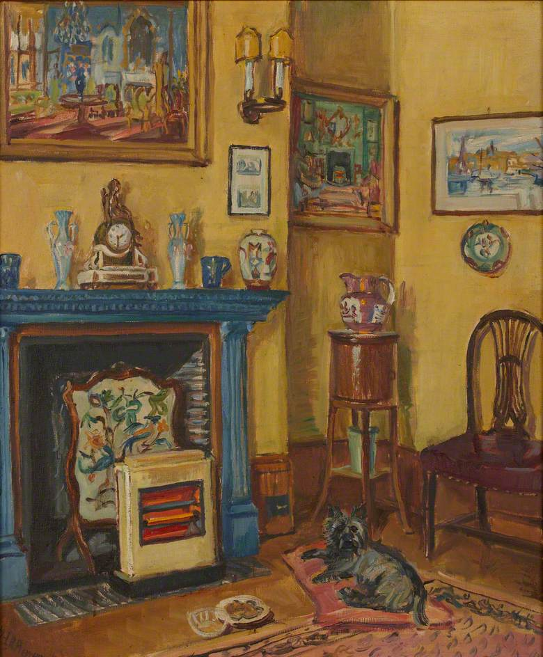 The Blue Mantlepiece