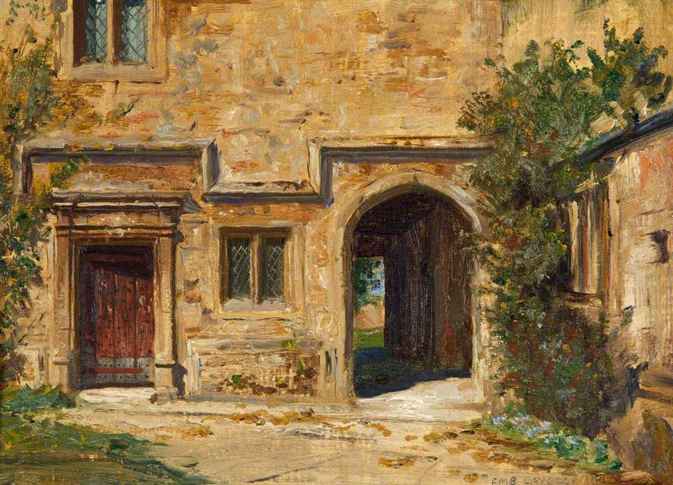 A Corner of the Garden against the Castle Walls, Dunster Castle, Somerset