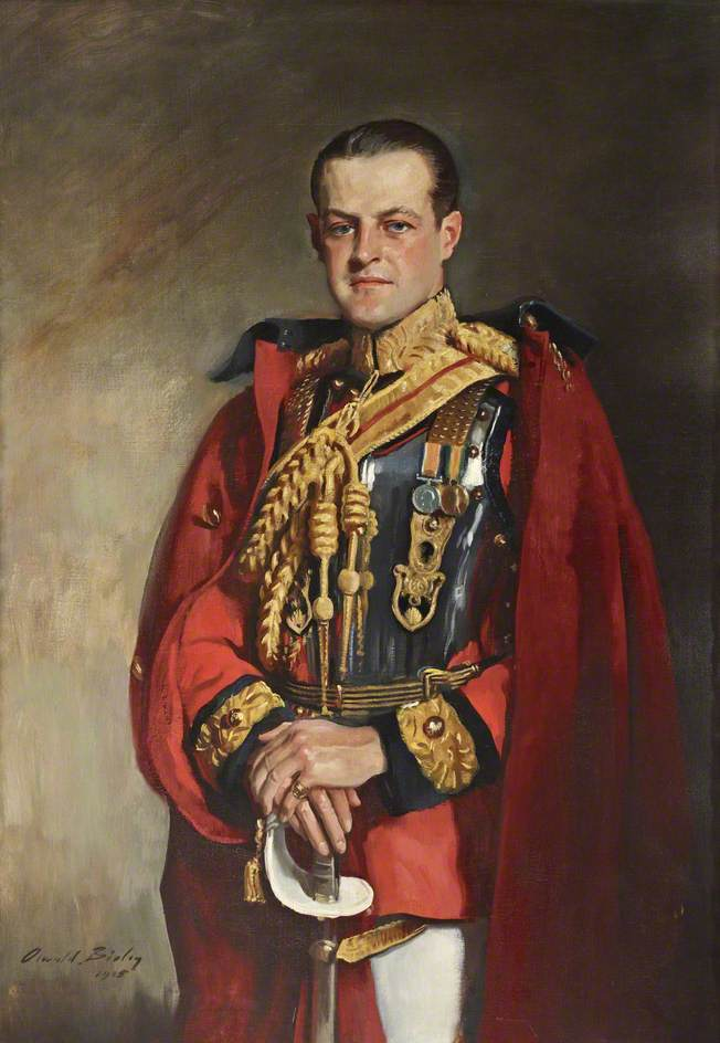 Huttleston Rogers Broughton (1896–1966), 1st Lord Fairhaven, in the Ceremonial Uniform of the 1st Life Guards