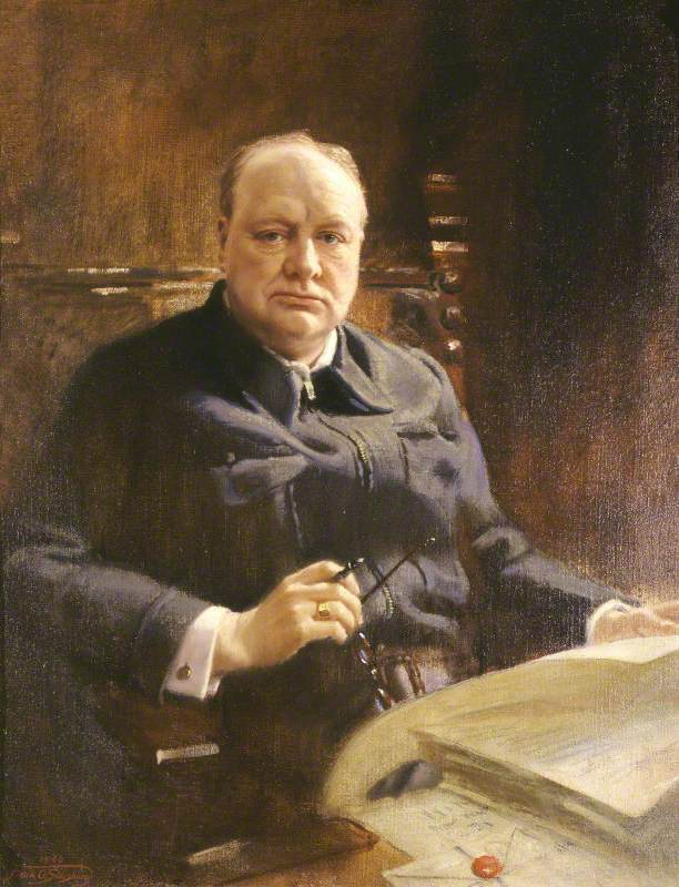Sir Winston Leonard Spencer-Churchill (1874–1965), KG, DL, OM, CH, PC, MP