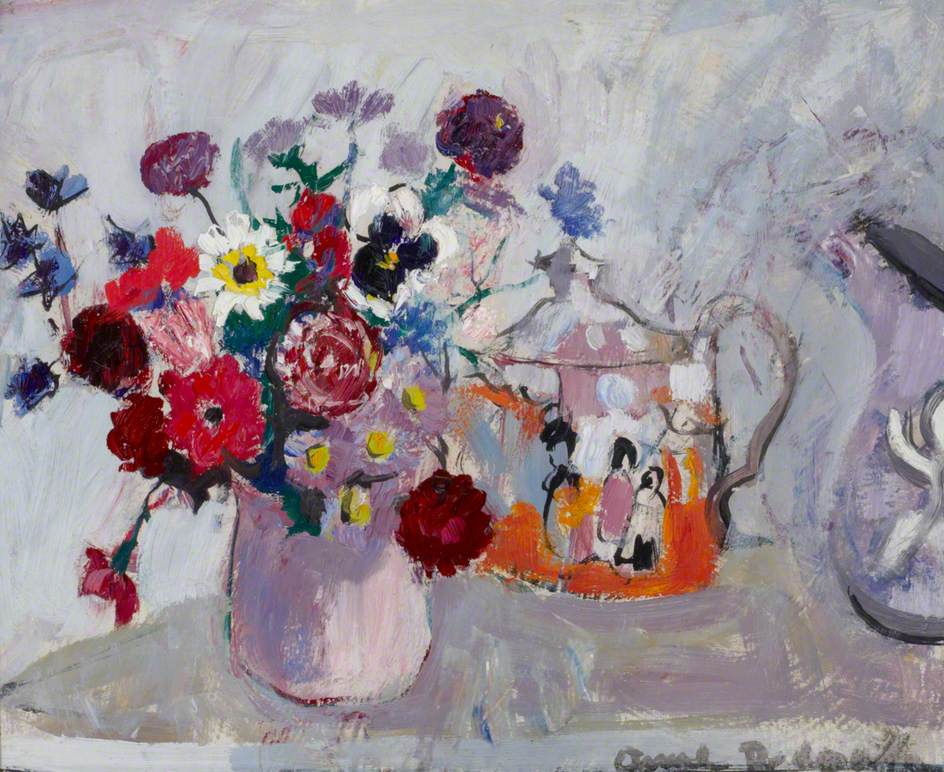 Still Life of Flowers and a Teapot