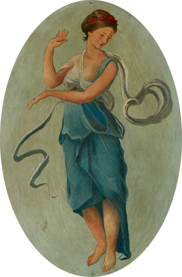 Ceiling Roundel: A Dancing Girl in Blue (A Muse?)