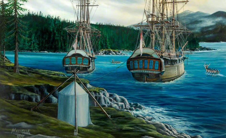 'Resolution' at Nootka Sound, Canada