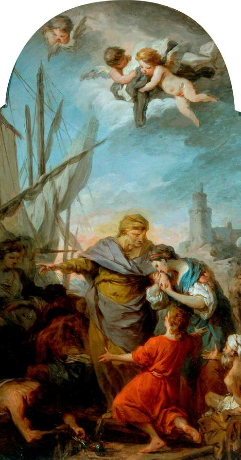 The Embarkation of St Paula for the Holy Land