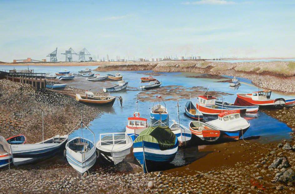 Low Water, Paddy's Hole, South Gare, Tees Valley