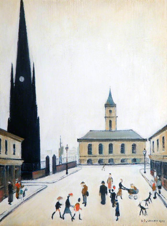 The Old Town Hall and St Hilda's Church, Middlesbrough, Tees Valley