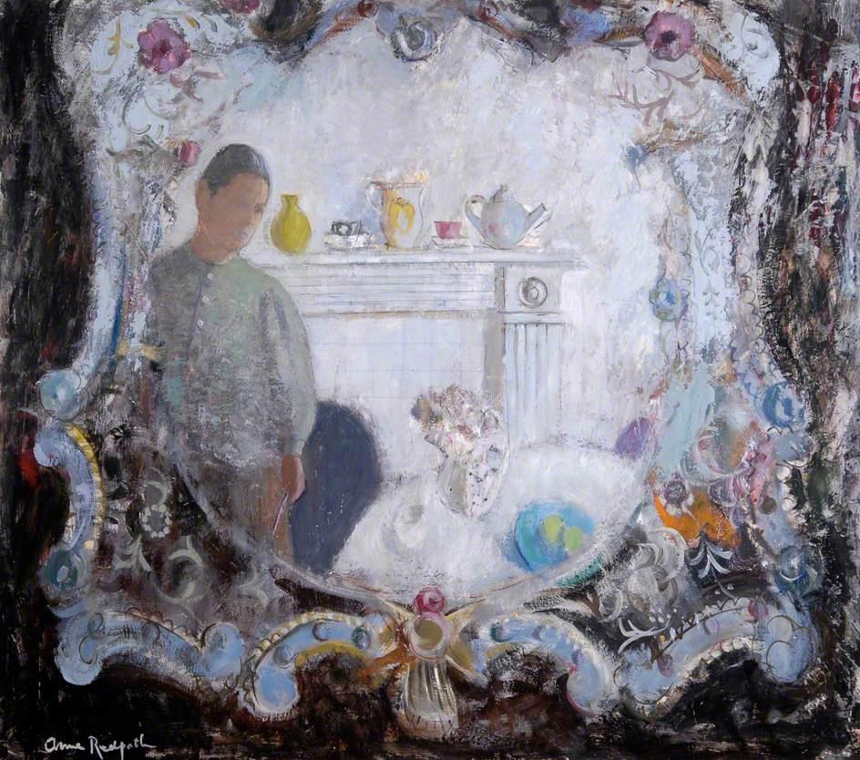 Self Portrait in Venetian Mirror