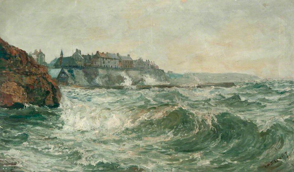 Stormy Sea at Cullercoats, Tyne and Wear