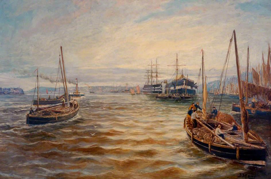 Fishing Fleet at North Shields, Tyne and Wear