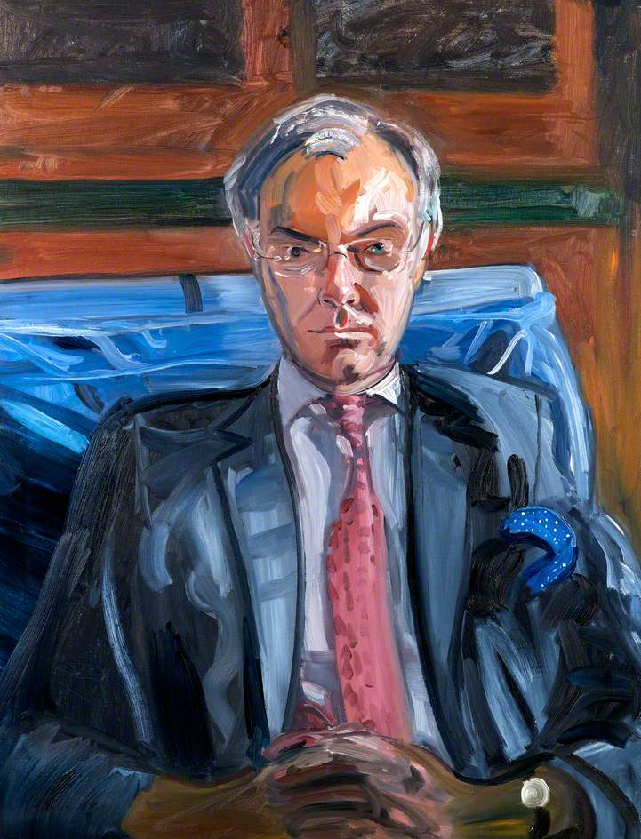 Study for a Portrait of Derec Llwyd Morgan (b.1943)