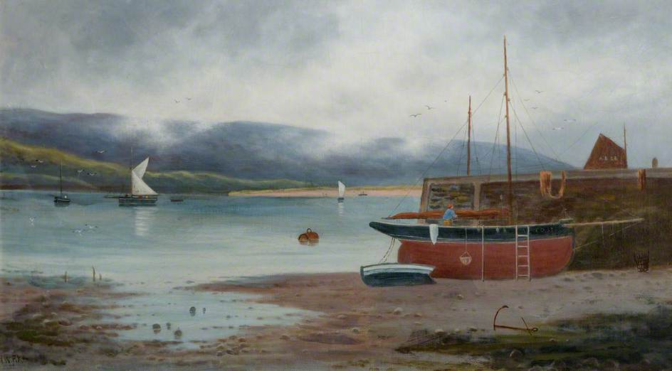 A Boat in Barmouth Harbour and Estuary