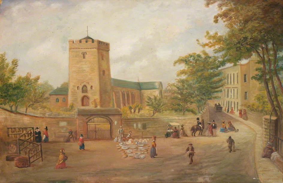 Llanelli Church and Market, 1821