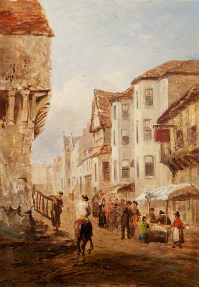 Market Scene in the High Street, Conwy