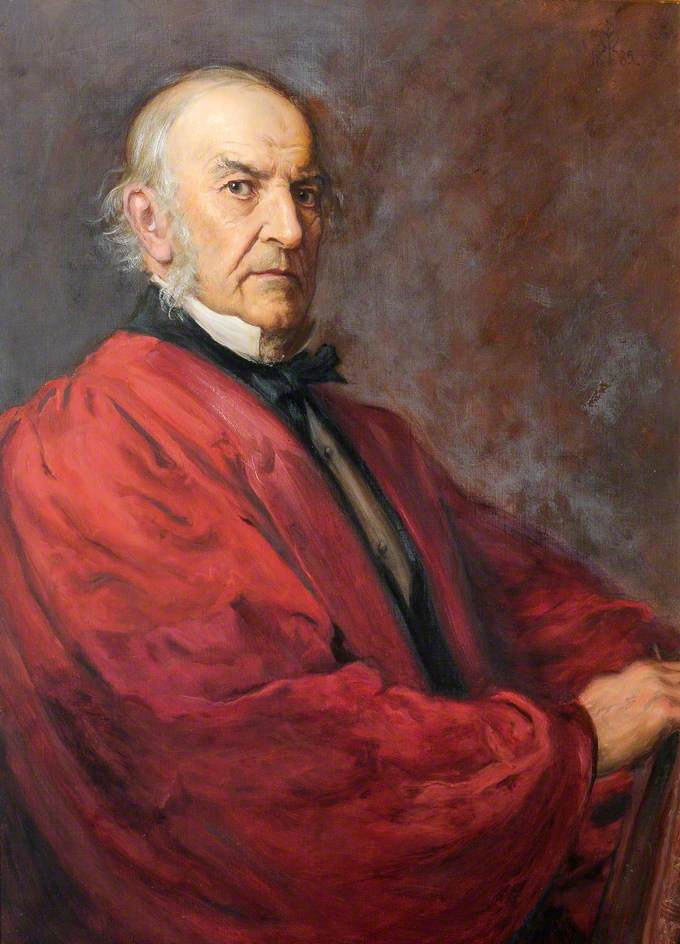 William Gladstone (1809–1898), Seated in DCL Robes, Christ Church, Oxford