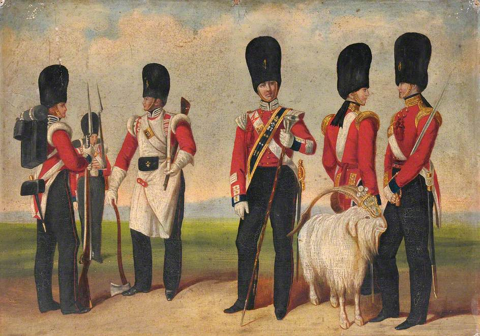 Group Painting including Drum Major Noble, c.1842