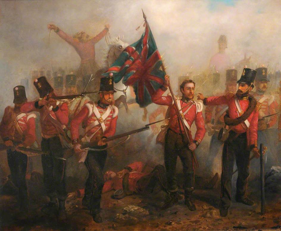 Sergeant Luke O'Connor Winning His VC at the Battle of the Alma, 20th September 1854