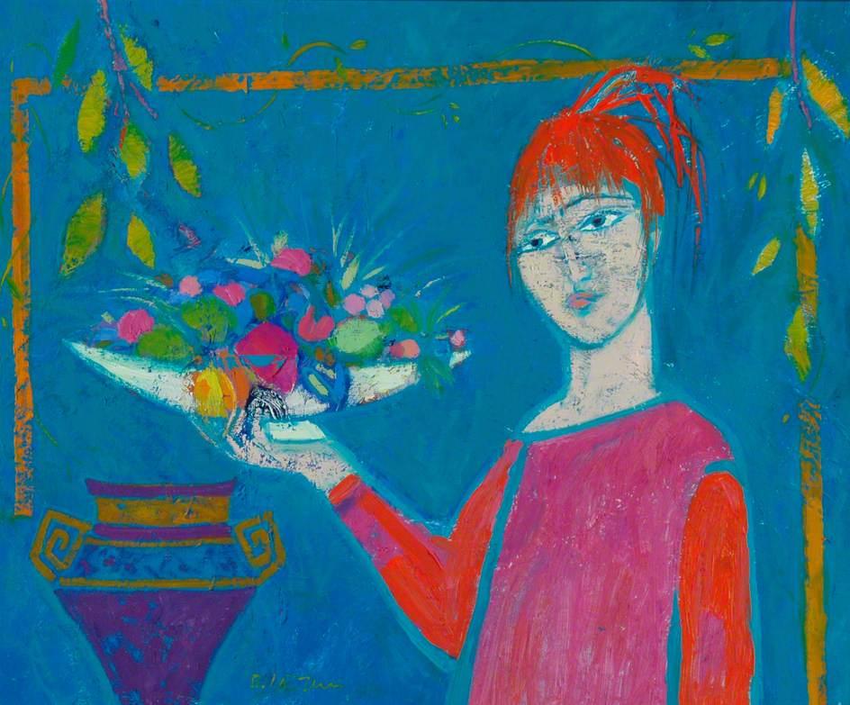 Girl, Fruit and a Jar
