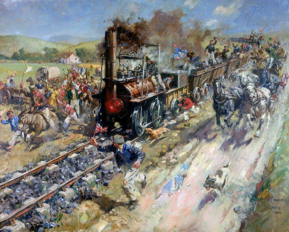 The Opening of the Stockton and Darlington Railway, 1825