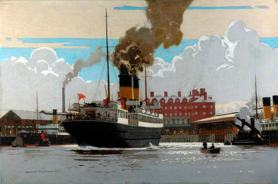 SS 'Hibernia' in Holyhead Harbour