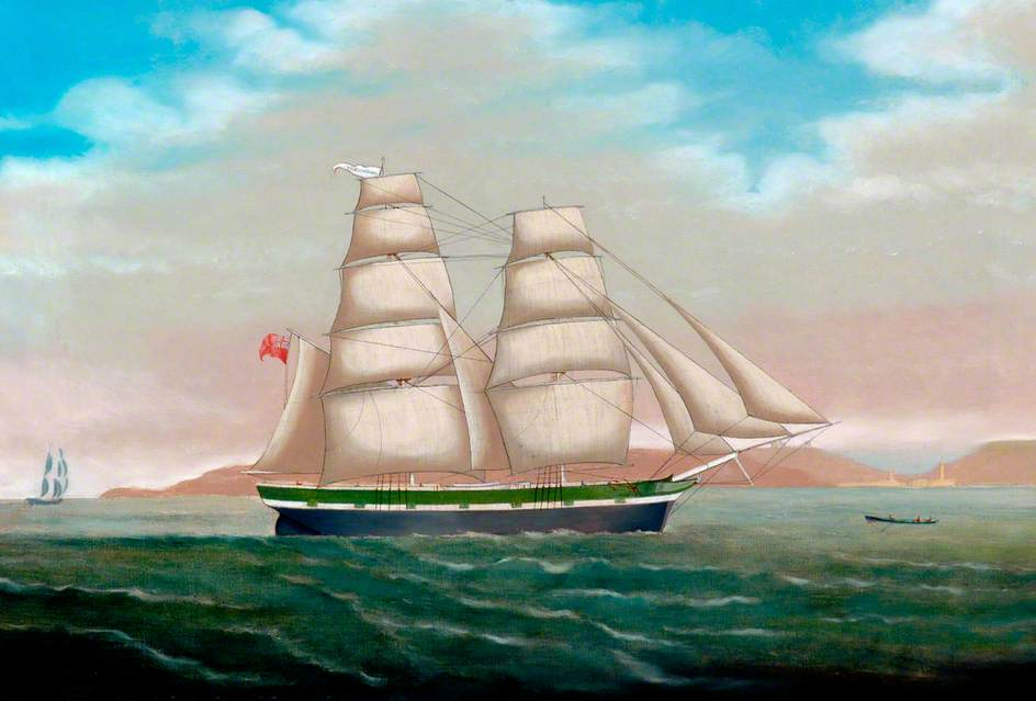 Ships' Portrait off Whitby and 'Sharon Rose'