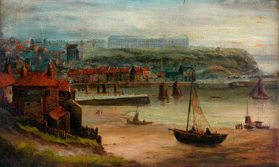 Whitby West Cliff from Henrietta Street, 1850