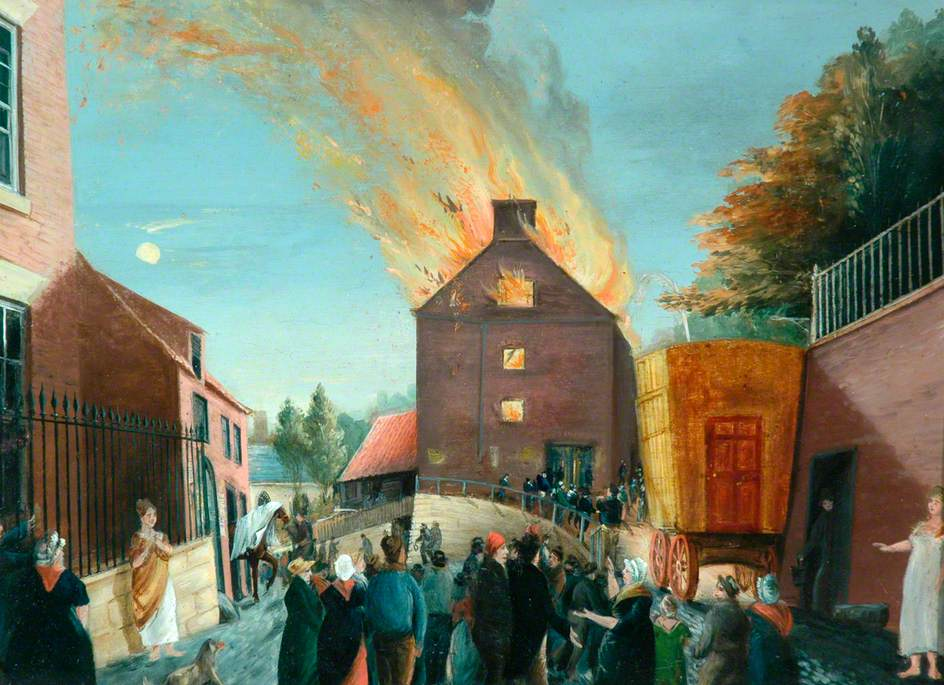 Fire at the Theatre, Skate Lane, 1823