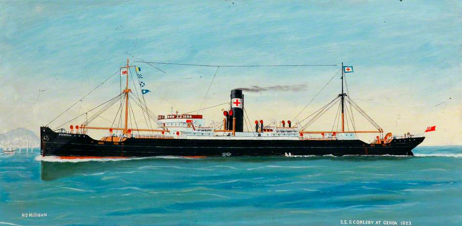 SS 'Scorsby' at Genoa