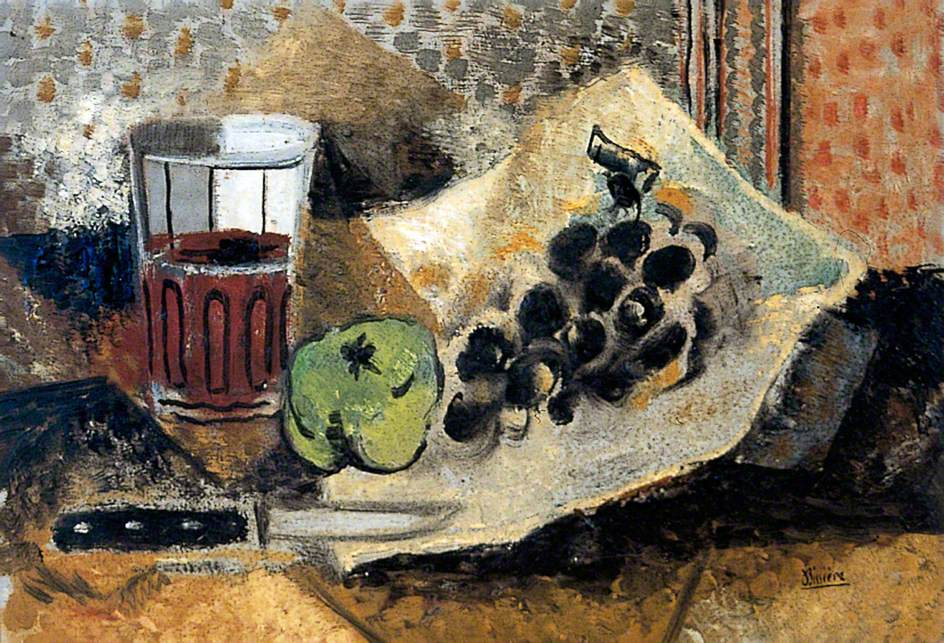 Still Life with Glass and Grapes