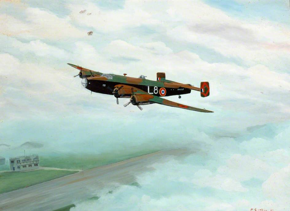 Halifax PN167, L8 of 347 Squadron
