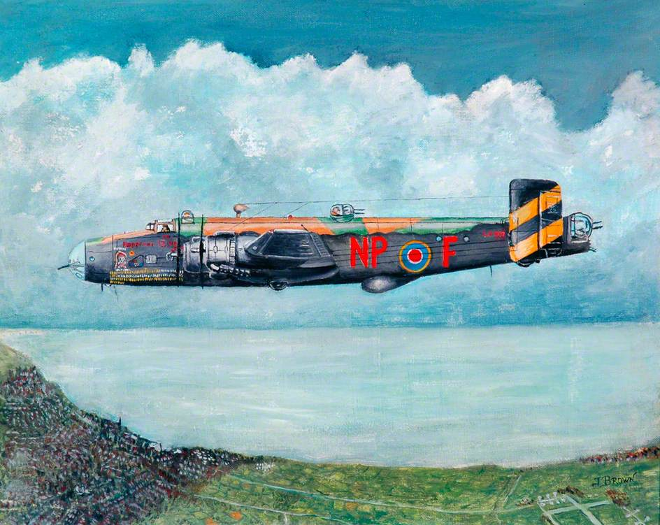 Halifax 'Friday 13th' LV907 NP-F of 158 Squadron