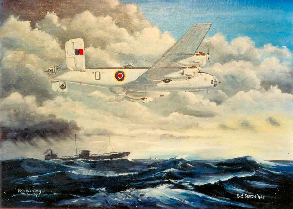 Halifax GR MkII Ser 1A JP296 of 58 Sqdn Coastal Command