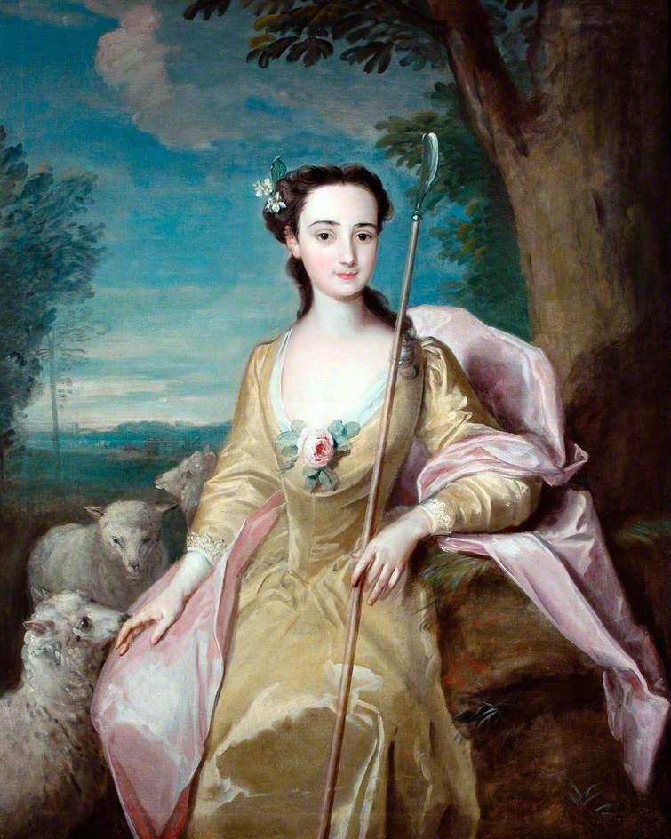 Anne Fairfax as a Shepherdess