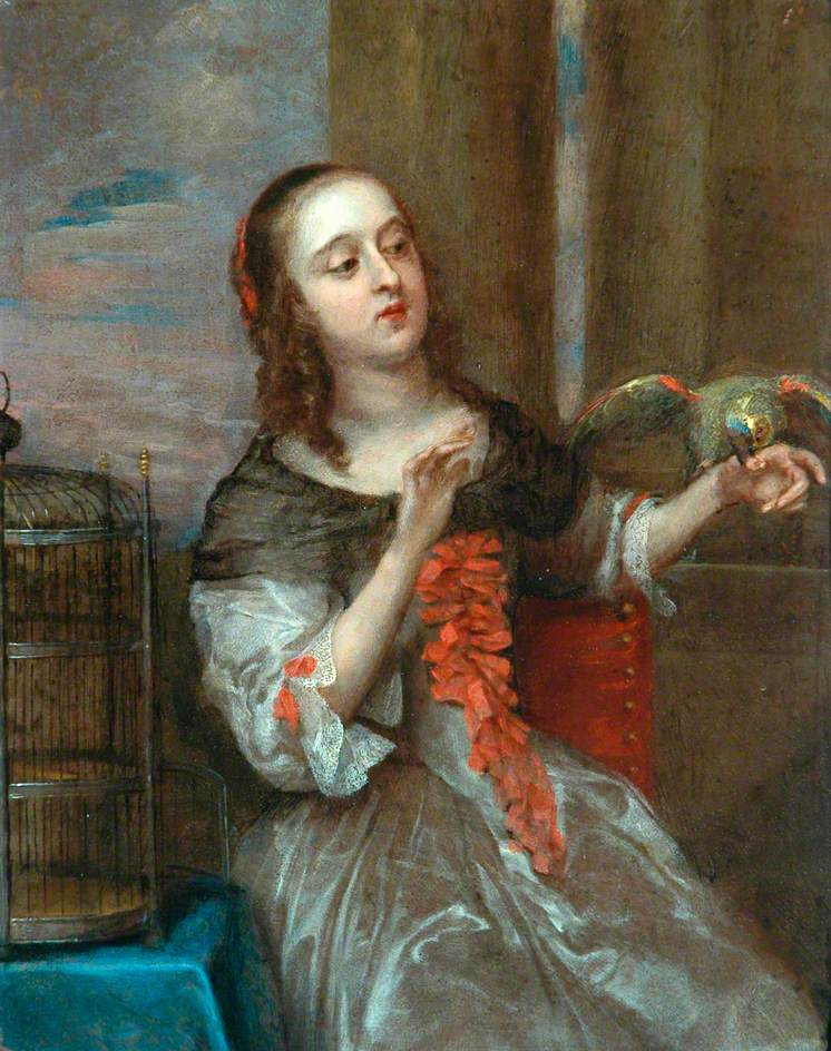 A Lady with a Parrot on Her Left Hand