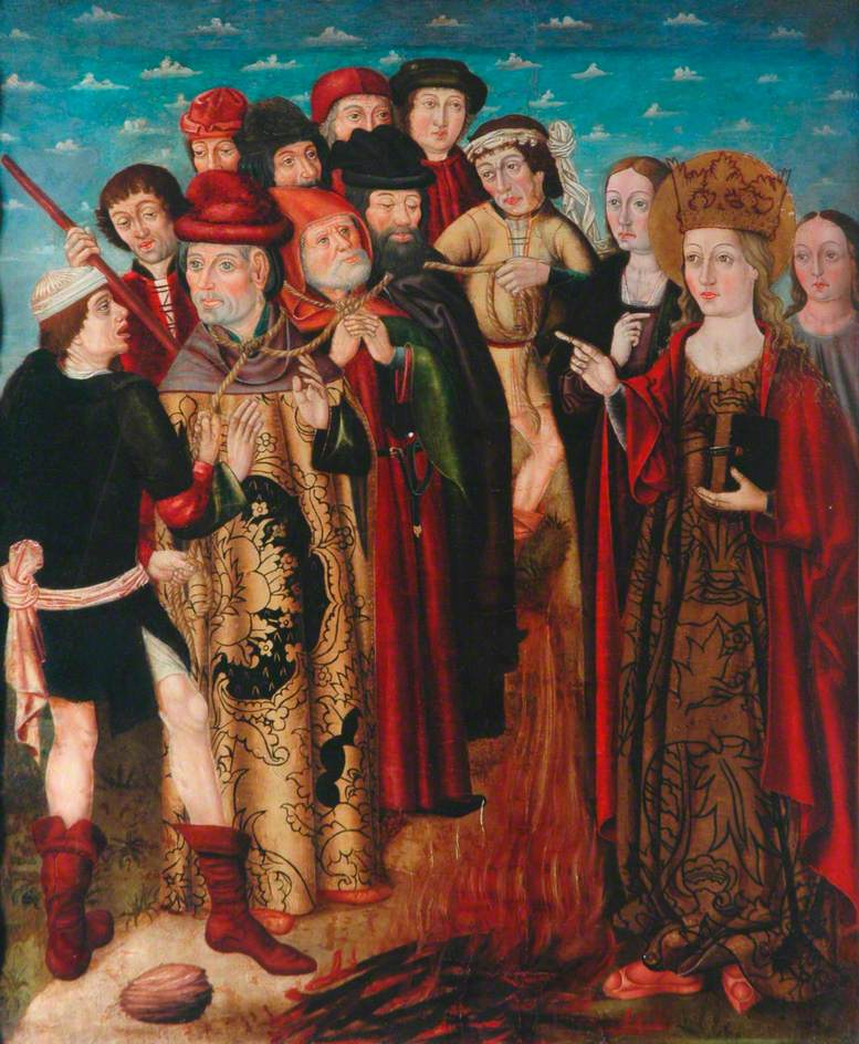Saint Catherine of Alexandria and the Conversion of the Philosophers Who Are Burned Immediately before Saint Catherine's Imprisonment