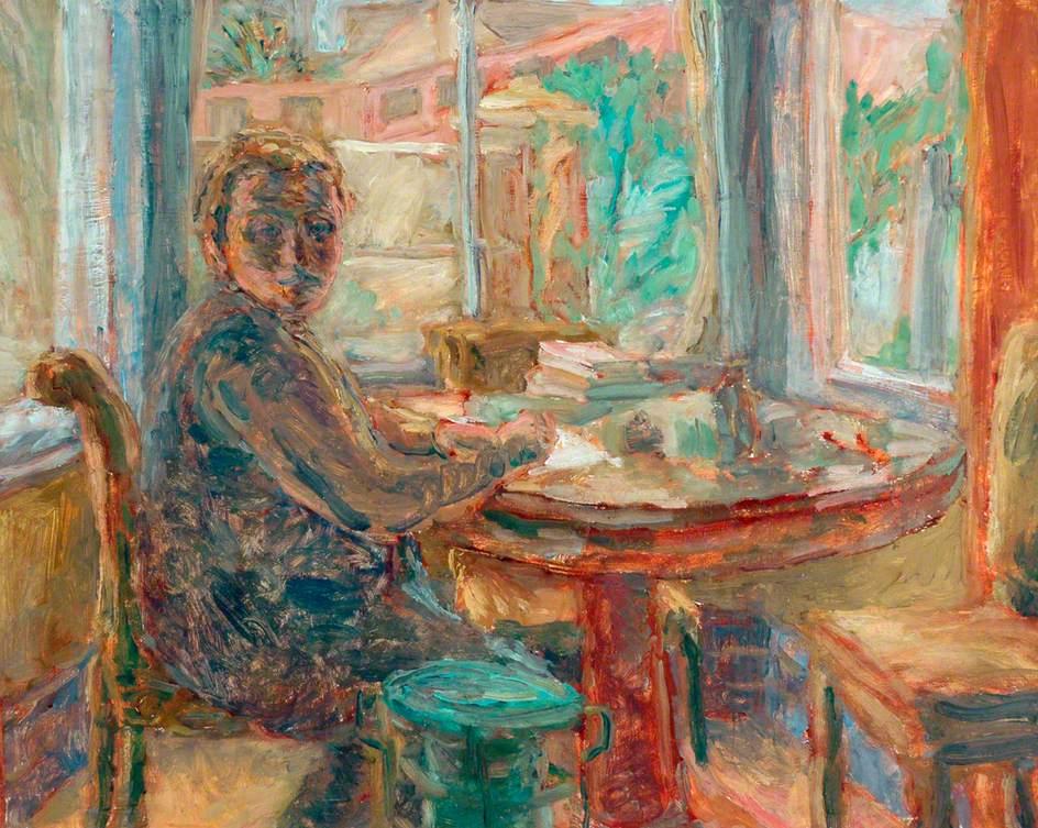 Woman Writing at a Desk