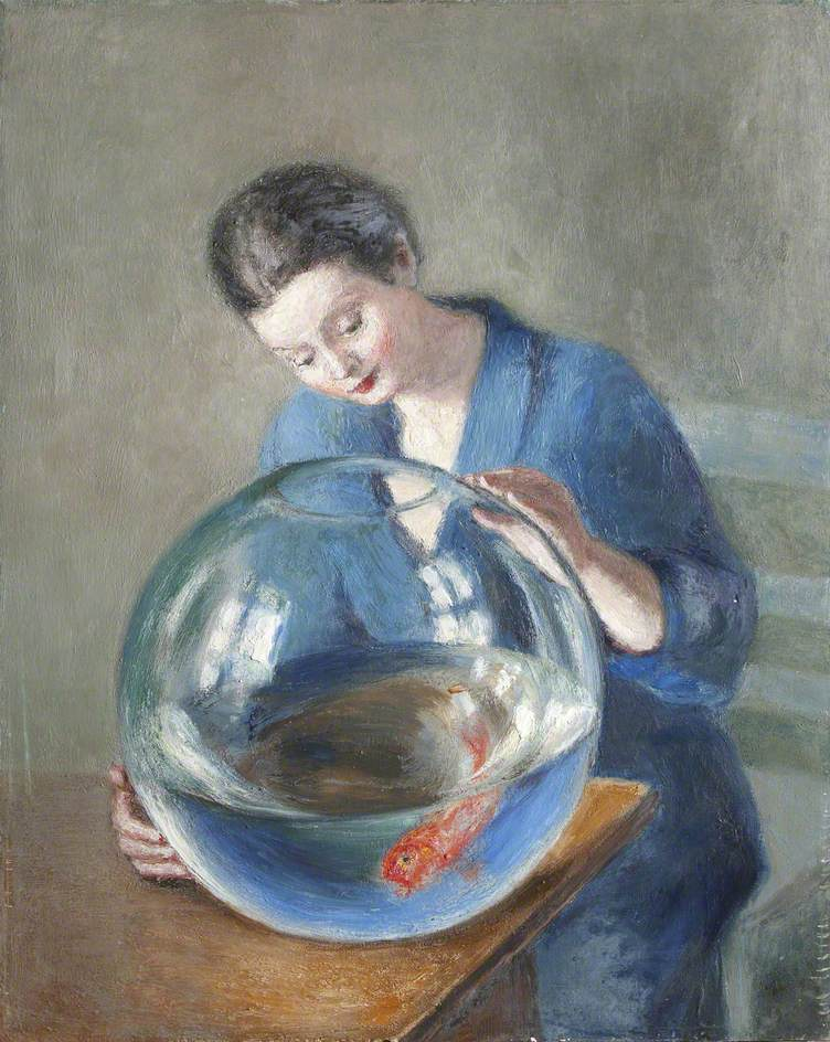 Portrait of a Lady with a Goldfish