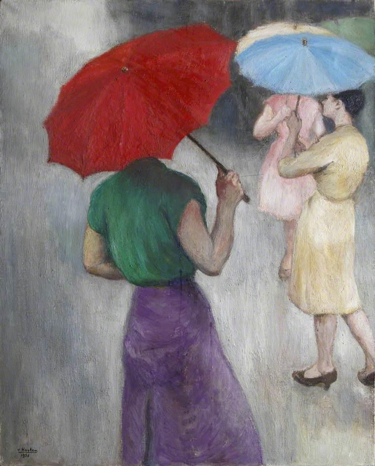 Three Ladies in the Rain