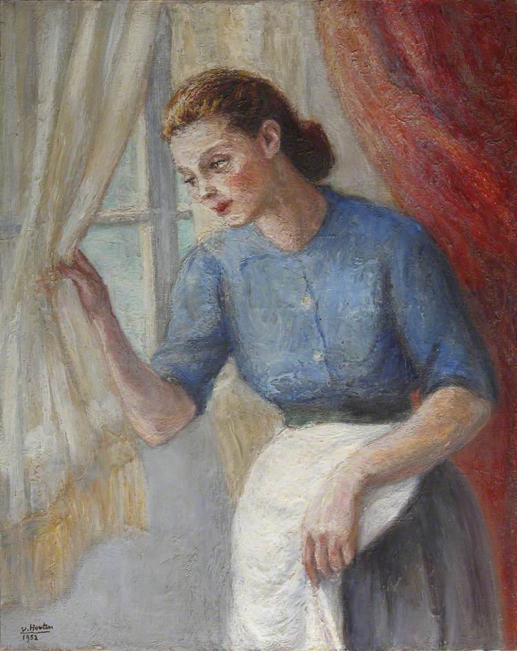 Portrait of a Lady in an Apron Looking out of the Window
