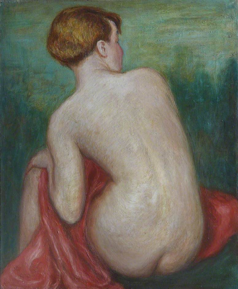 Nude with a Red Drape