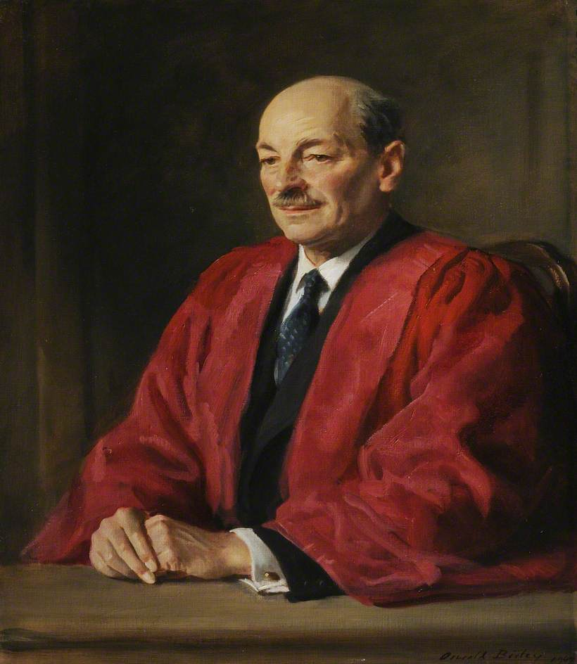 Clement Attlee (1883–1967), 1st Earl Attlee, Wearing DCL Robes, Commoner, Prime Minister (1945–1951)