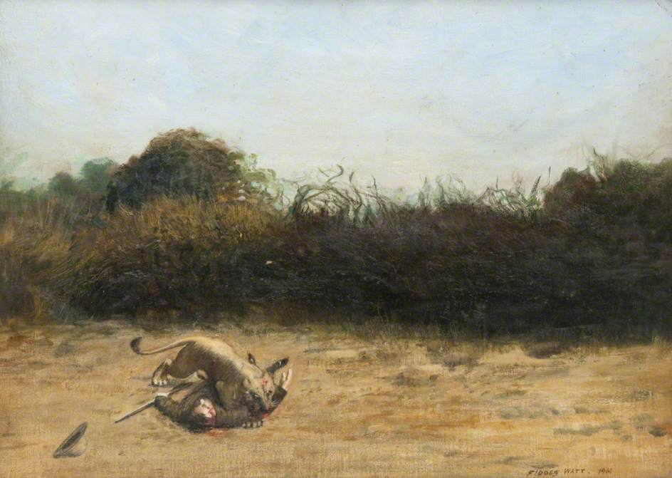 John Duncan Inverarity Mauled by a Lioness, Somaliland