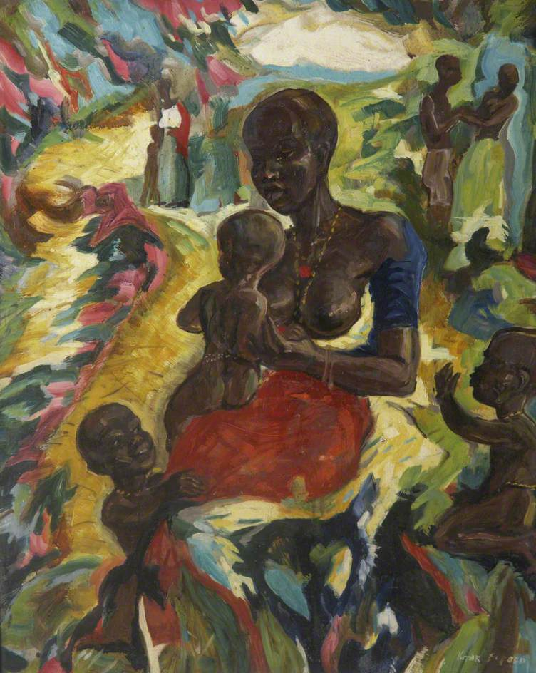 West African Madonna by River