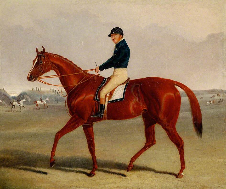 Preserve, with Flatman up at Newmarket, Suffolk, 1835